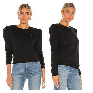 GENERATION LOVE Tara Crystal Sweatshirt in Black